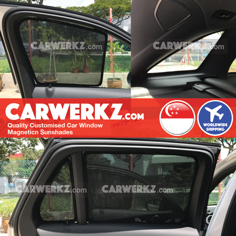 Mercedes Benz GLC Class 2015 2016 2017 2018 2019 (X253) Germany Compact Luxury SUV Customised Car Window Magnetic Sunshades 6 Pieces fitted photos installed photos - carwerkz singapore australia malaysia