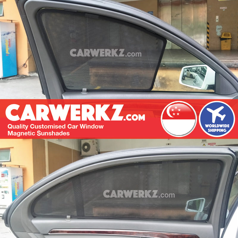 Mercedes Benz S Class 2006-2014 5th Generation (W221) (Long Wheel Base) Customised Germany Luxury Sedan Window Magnetic Sunshades - CarWerkz