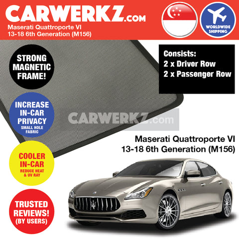 Maserati Quattroporte VI Sport Car Car Accessories 2013 2014 2015 2016 2017 2018 6th Generation (M156) Customised Car Window Magnetic Sunshades