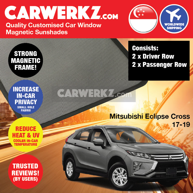 Mitsubishi Eclipse Cross 2017-2019 Japan Compact Crossover Customised SUV  Window Magnetic Sunshades