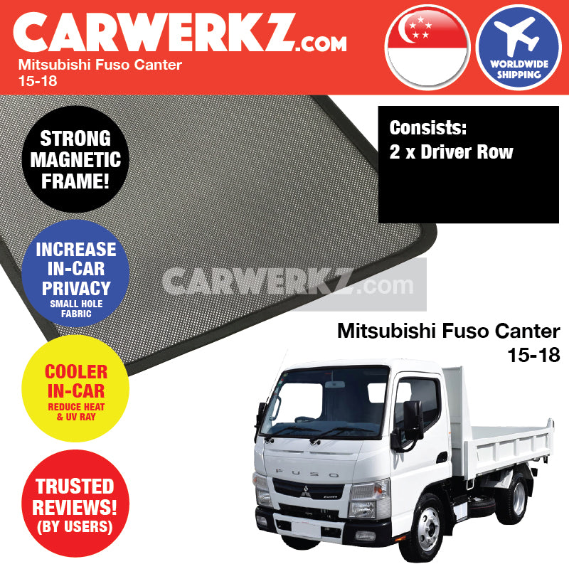 Mitsubishi Fuso Canter 2015-2018 Customised Truck Lorry Windows Magnetic Sunshades - CarWerkz