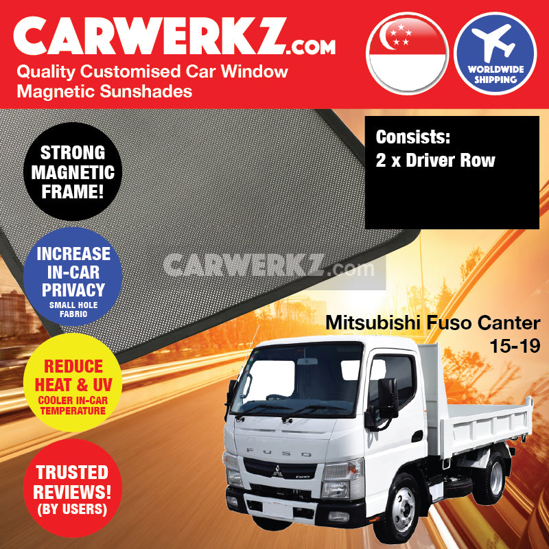 Mitsubishi Fuso Canter 2015-2019 Japan Light Duty Truck Customised Lorry Windows Magnetic Sunshades - CarWerkz