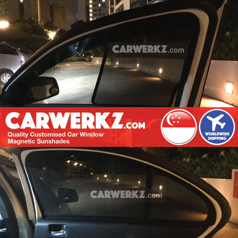 Mitsubishi Lancer Ex 2007 2008 2009 2010 2011 2012 2013 2014 2015 2016 2017 Japan Sedan Customised Car Window Magnetic Sunshades 4 Pieces installed photos fitting photos - carwerkz singapore australia malaysia