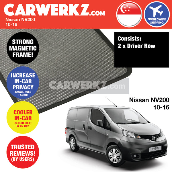 Nissan NV200 Commercial Van Car Accessories 2010 2011 2012 2013 2014 2015 2016 Customised Car Window Magnetic Sunshades