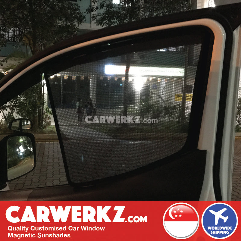 Nissan NV200 2010 2011 2012 2013 2014 2015 2016 Light Commercial Van Customised Car Window Magnetic Sunshades 2 Pieces installed photos fitting photos - carwerkz singapore australia malaysia