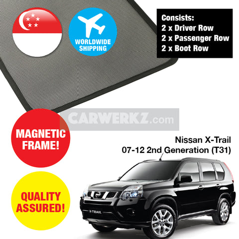 Nissan X-Trail 2007-2012 2nd Generation (T31) Customised Magnetic Sunshades