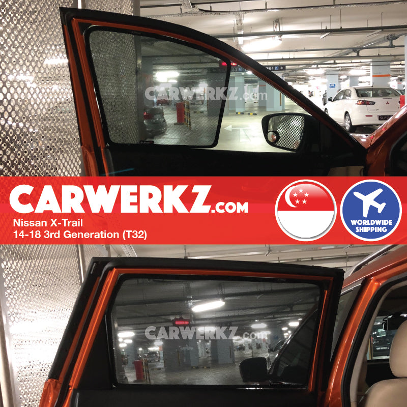Nissan X-Trail 2014-2017 3rd Generation Magnetic Sunshades - CarWerkz