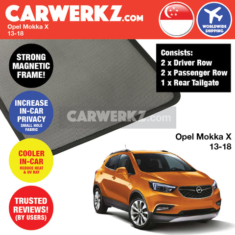Opel Mokka X SUV Sport Utility Vehicles Car Accessories 2013 2014 2015 2016 2017 2018 Magnetic Sunshades 4 Pieces + Rear Tailgate 1 Piece