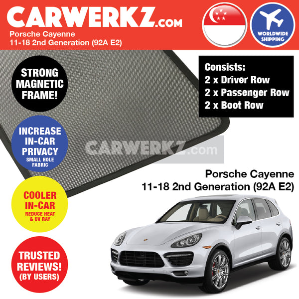 Porsche Cayenne 2011-2018 2nd Generation (92A E2) Customised Magnetic Sunshades