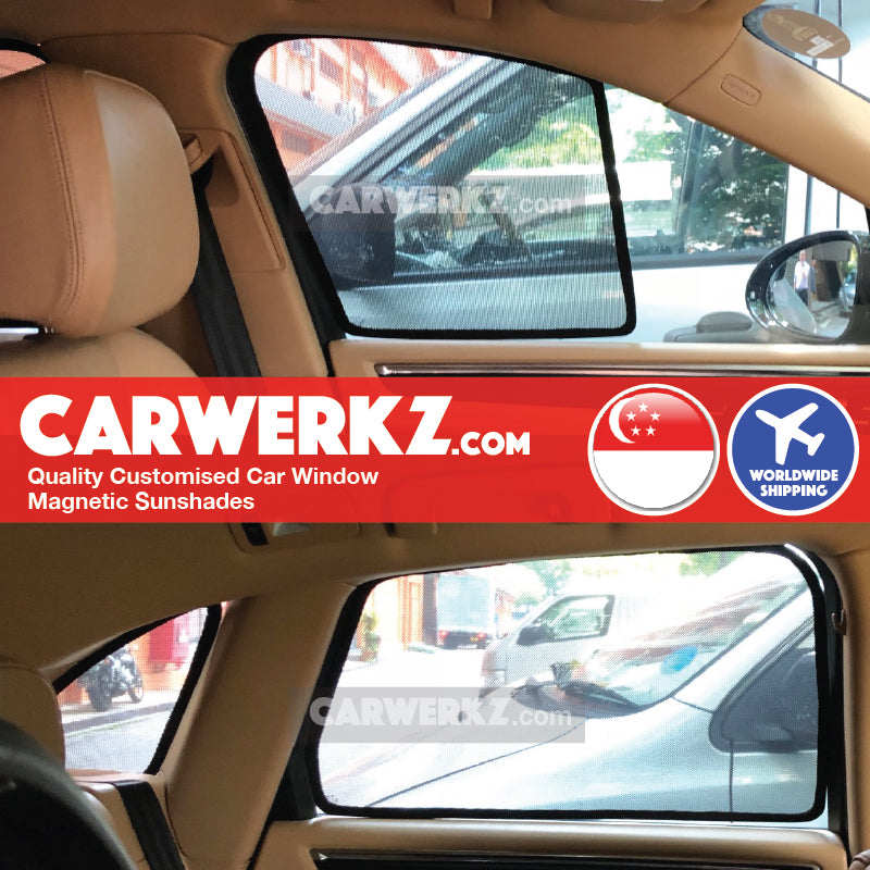 Porsche Macan 2014 2015 2016 2017 2018 2019 1st Generation (95B) Germany Luxury Crossover Customised Car Window Magnetic Sunshades 6 Pieces installed photos fitted photos - carwerkz singapore australia malaysia