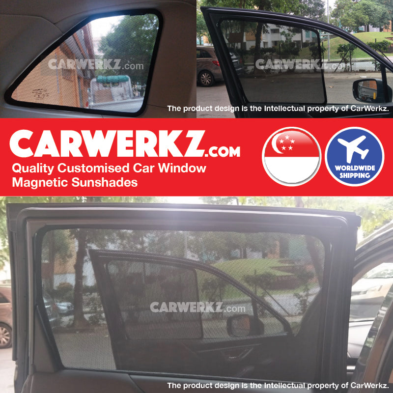 Subaru Forester 2019 5th Generation (SK) Japanese Subcompact Crossover SUV Customised SUV Window Magnetic Sunshades 6 Pieces - CarWerkz