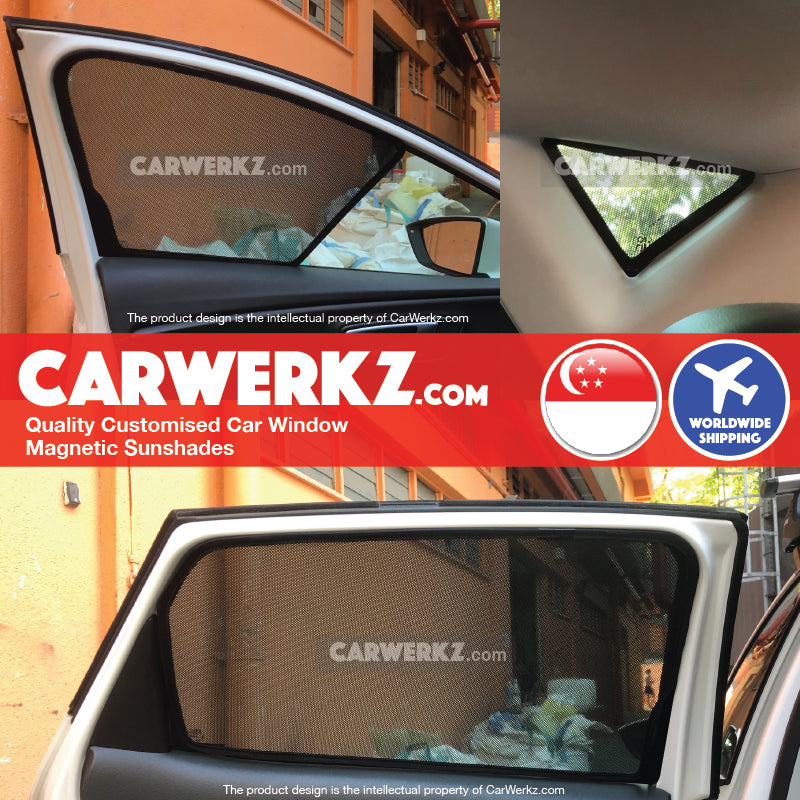 Seat Leon 2012-2020 3rd Generation (MK3 Typ 5F) Spain Hatchback Compact Customised Car Window Magnetic Sunshades - CarWerkz