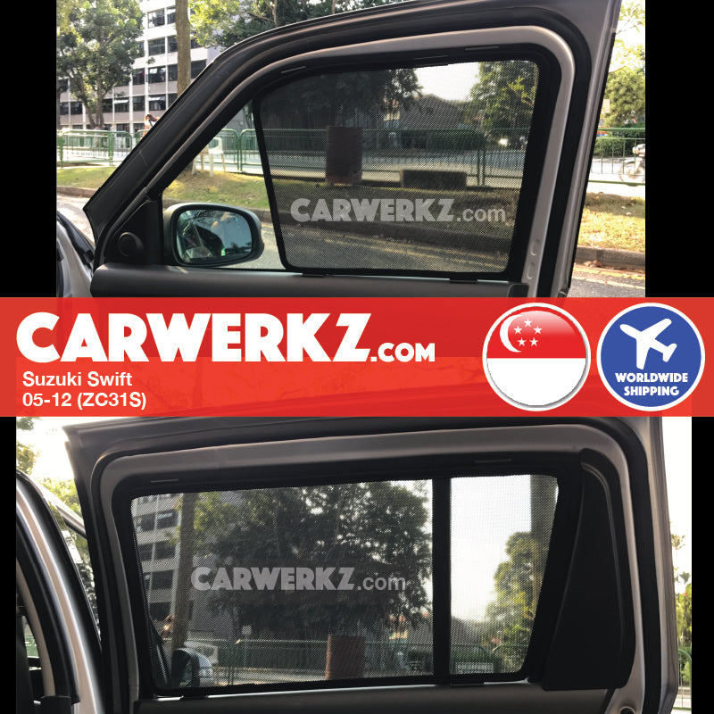 Suzuki Swift 2005-2012 (ZC31S) Magnetic Sunshades - CarWerkz