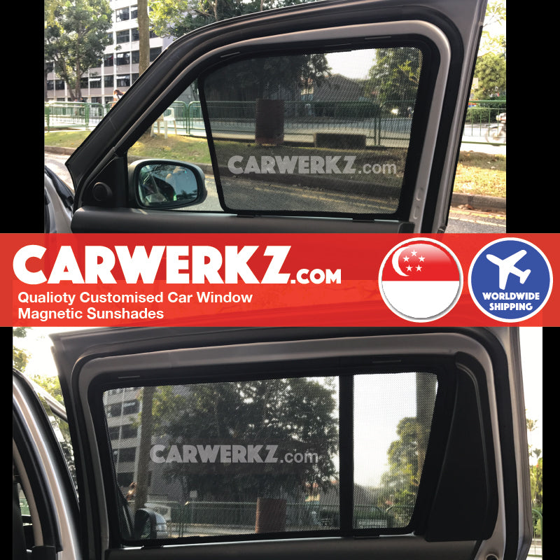 Suzuki Swift 2005 2006 2007 2008 2009 2010 2011 2012 (ZC31S) Japan Automotive Customised Car Window Magnetic Sunshades 4 Pieces installed pic fitted pics - carwerkz sg au nz my