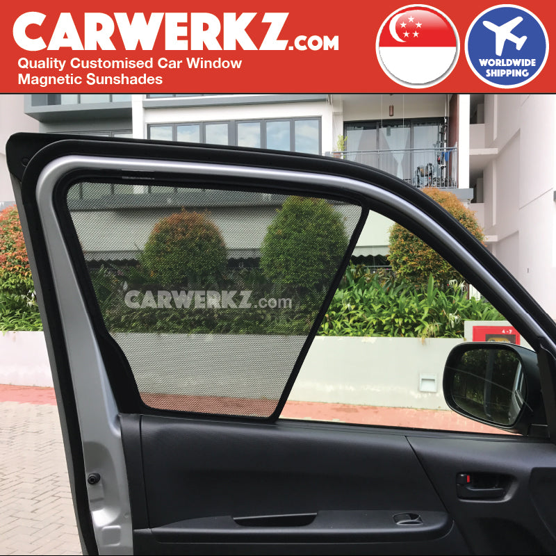Toyota HiAce 2004-2018 5th Generation (H200) Customised Japan Commericial Van Window Magnetic Sunshades installed phots fitting phots -carwerkz sg my au