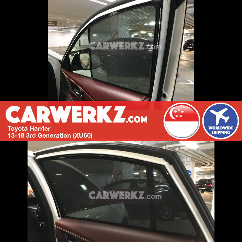 Toyota Harrier 2013-2017 3rd Generation (XU60) Magnetic Sunshades - CarWerkz