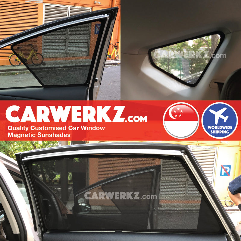 Toyota Prius Alpha Prius V Prius+ 2012 2013 2014 2015 2016 2017 2018 2019 (ZVW40) Japan MPV Customised Car Window Magnetic Sunshades 6 Pieces installed photos fitting photos - carwerkz sg au my