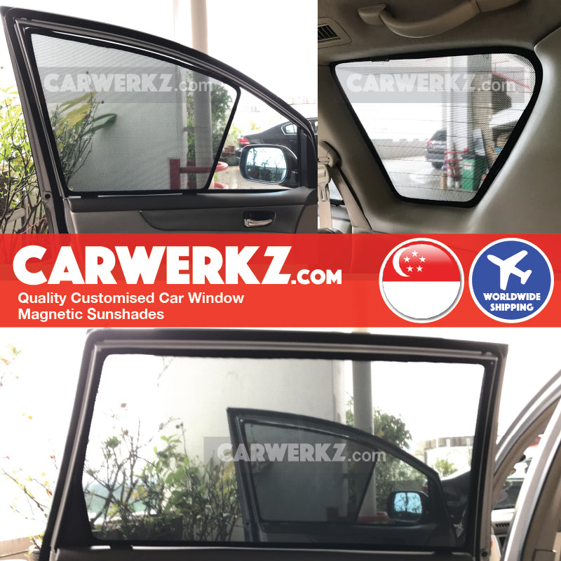Toyota Picnic Ipsum 2001 2002 2003 2004 2005 2006 2007 2008 2009 2nd Generation (XM20) Japan MPV Customised Car Window Magnetic Sunshades installed photos fitting photos - carwerkz sg au my