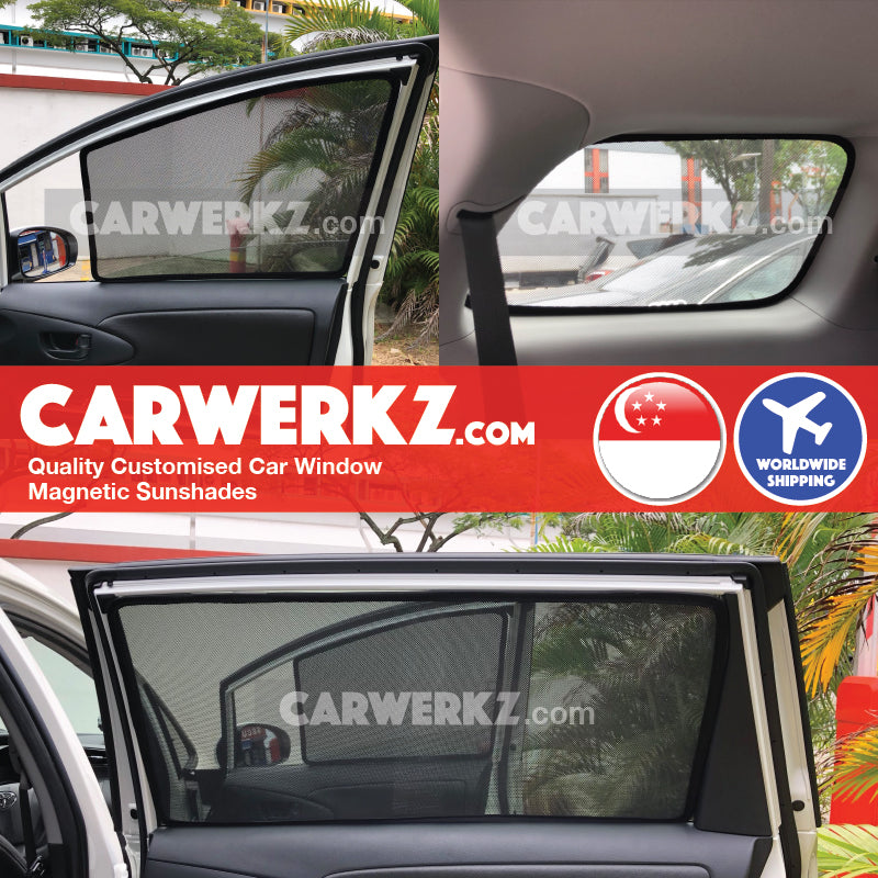 Toyota Wish 2013 2014 2015 2016 2017 2018 2nd Generation (AE20) Japan MPV Customised Car Window Magnetic Sunshades installed photos fitted photos - carwerkz sg au my
