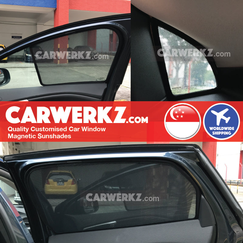 Volvo V40 2012 2013 2014 2015 2016 2017 2018 2019 Sweden Hatchback Customised Car Window Magnetic Sunshades 6 Pieces installed photos fitting photos - drshadez sg au my autobacs オートバックス