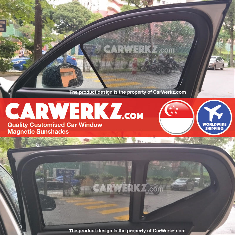 Volvo XC40 2018-2019 Sweden Subcompact Luxury Crossover SUV Customised SUV Window Magnetic Sunshades 6 Pieces - CarWerkz