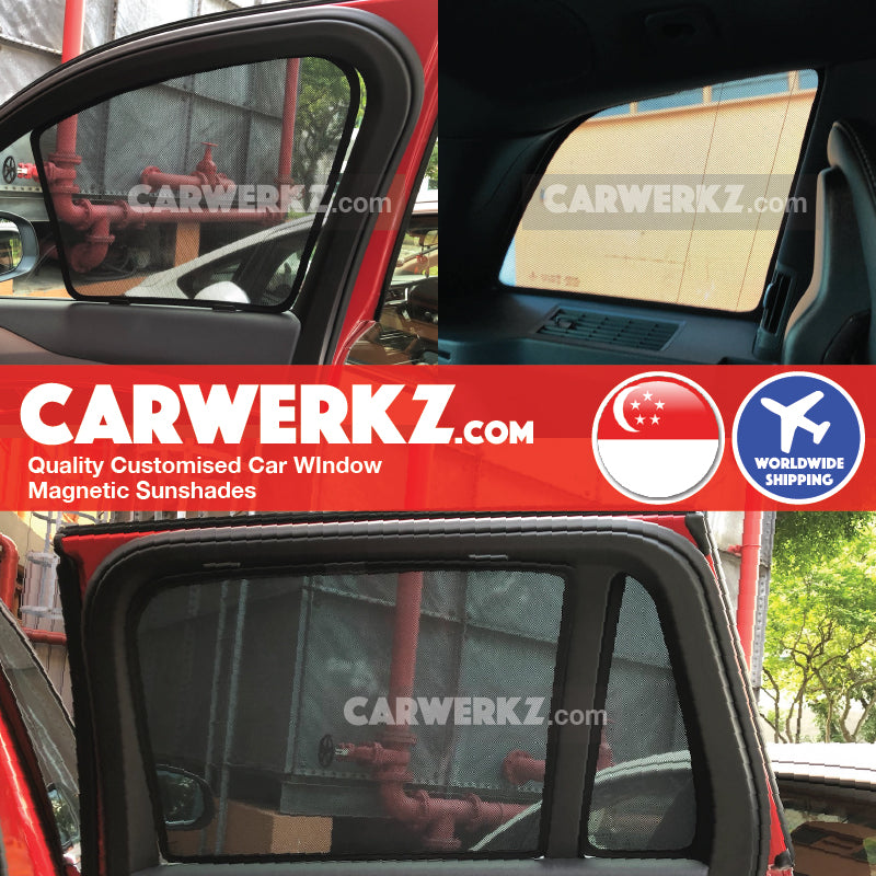 Volvo XC90 2014 2015 2016 2017 2018 2019 2nd Generation (AU) Sweden Large Crossover SUV Customised Car Window Magnetic Sunshades 8 Pieces installed photos fitting photos - carwerkz sg se pl de au