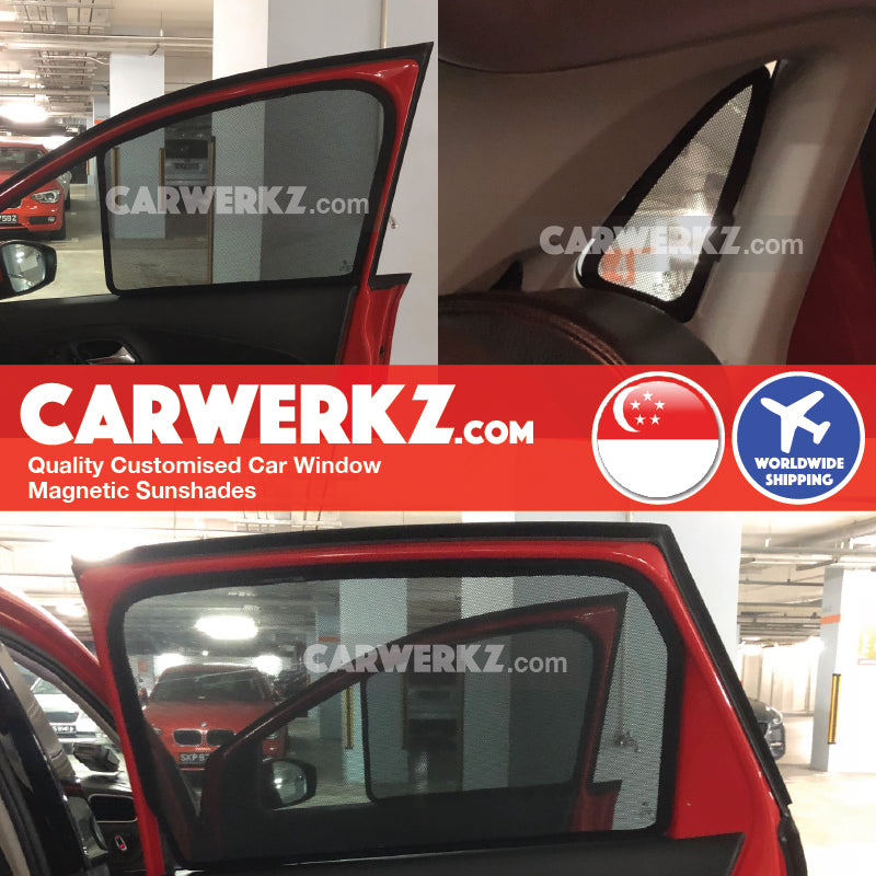 Volkswagen Polo 2009 2010 2011 2012 2013 2014 2015 2016 2017 2018 (MK5 6R 6C) Germany Hatchback Customised Car Window Magnetic Sunshades 4 Pieces installed photos fitting pictures - carwerkz sg au my mc pl de