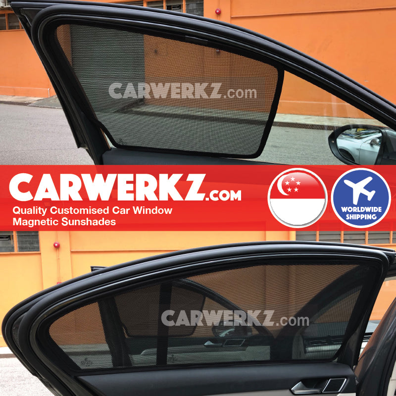 Volkswagen Passat 2015 2016 2017 2018 2019 (B8) Germany Large Family Sedan Customised Car Window Magnetic Sunshades installed photos fitting pictures - carwerkz sg au mc my pl