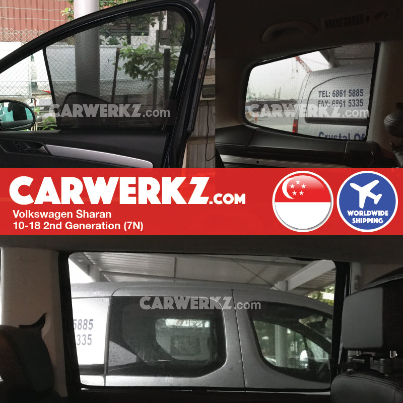 Volkswagen Sharan Seat Alhambra 2010-2018 2nd Generation (7N) Customised Car Window Magnetic Sunshades Fitting Fitment - CarWerkz
