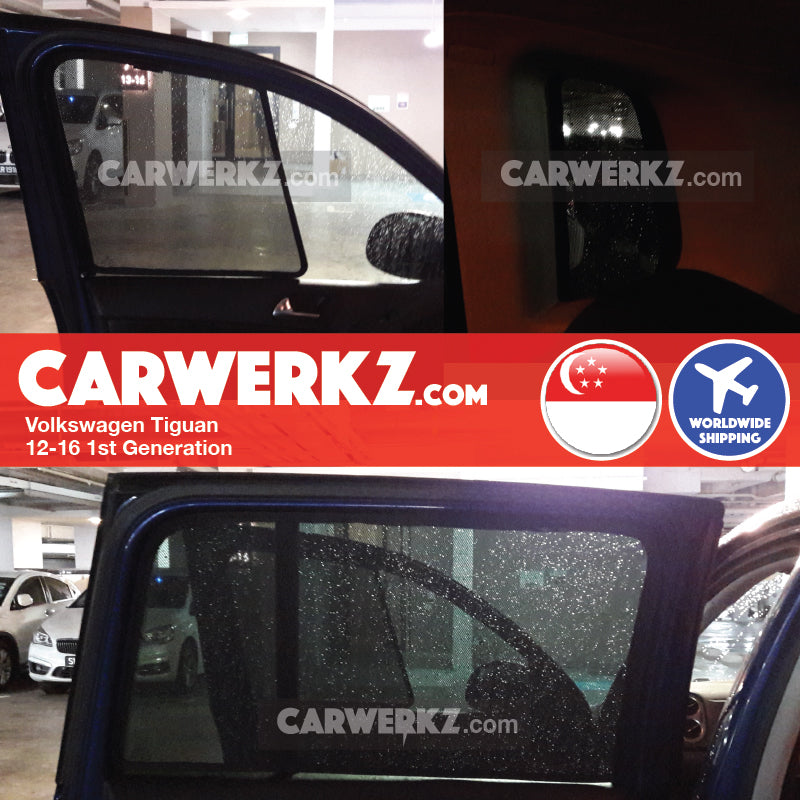 Volkswagen Tiguan 2012-2016 1st Generation (Facelift) Customised Car Window Magnetic Sunshades 6 Pieces - CarWerkz