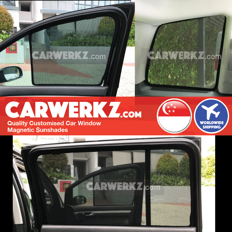 Volkswagen Touran 2006-2015 1st Generation Germany Compact MPV Customised Car Window Magnetic Sunshades 6 Pieces
