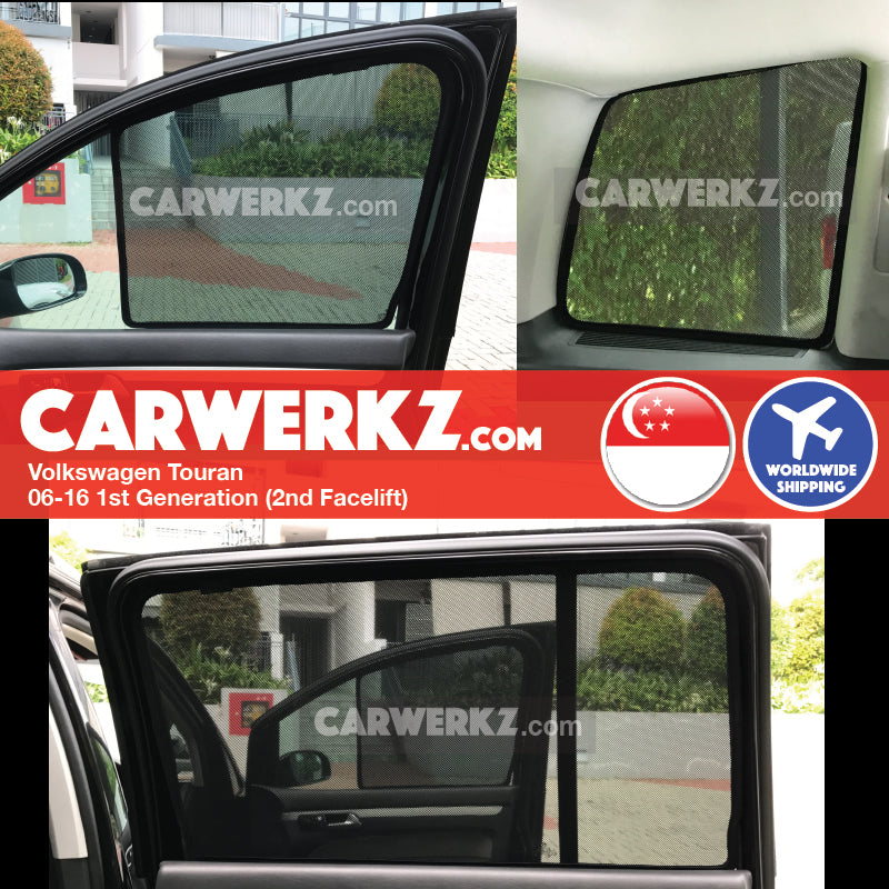Volkswagen Touran 2006-2015 1st Generation Germany Compact MPV Customised Car Window Magnetic Sunshades - CarWerkz
