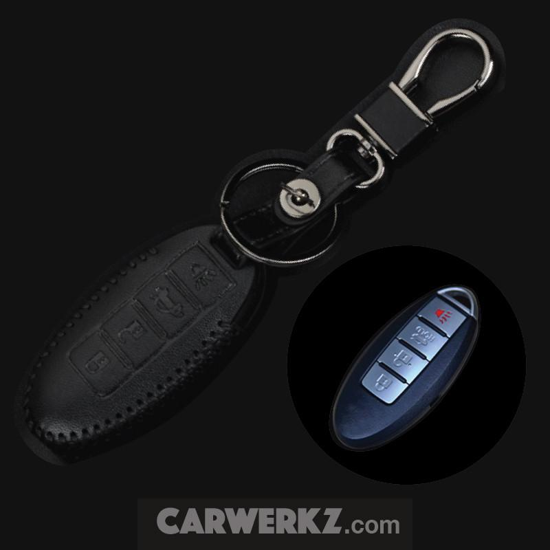 Nissan 4 Buttons Classy Range Quality Leather Key Holder