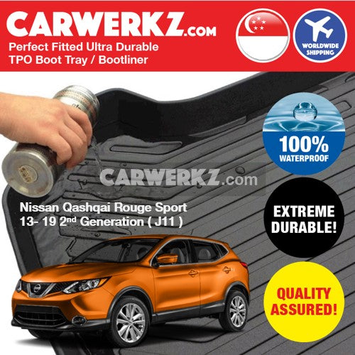 Nissan Qashqai 2013-2019 2nd Generation Ultra Durable TPO Boot Tray Bootliner