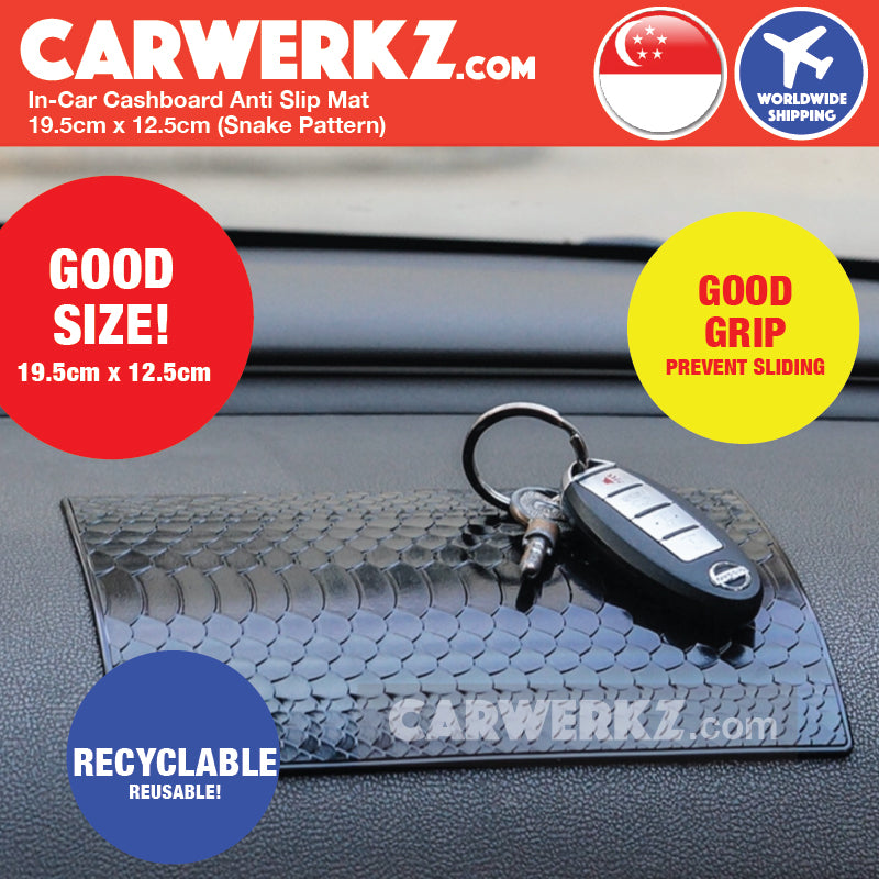 In-Car Dashboard Anti Slip Mat 19.5cm x 12.5cm 004 (Snake Pattern) - CarWerkz