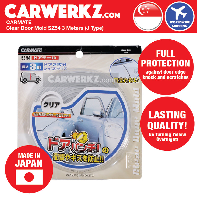 Carmate Clear Door Mold SZ54 3 Meters (J Type) - CarWerkz