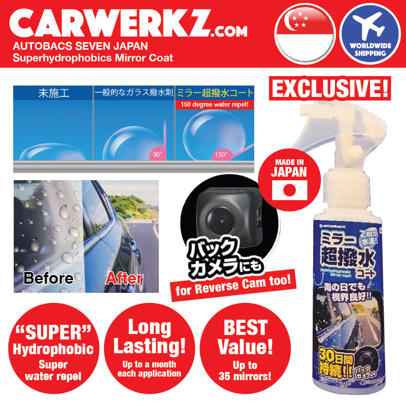 Autobacs Seven Japan Super Hydrophobic Mirror Coat (applicable to Car Reverse Camera) - CarWerkz