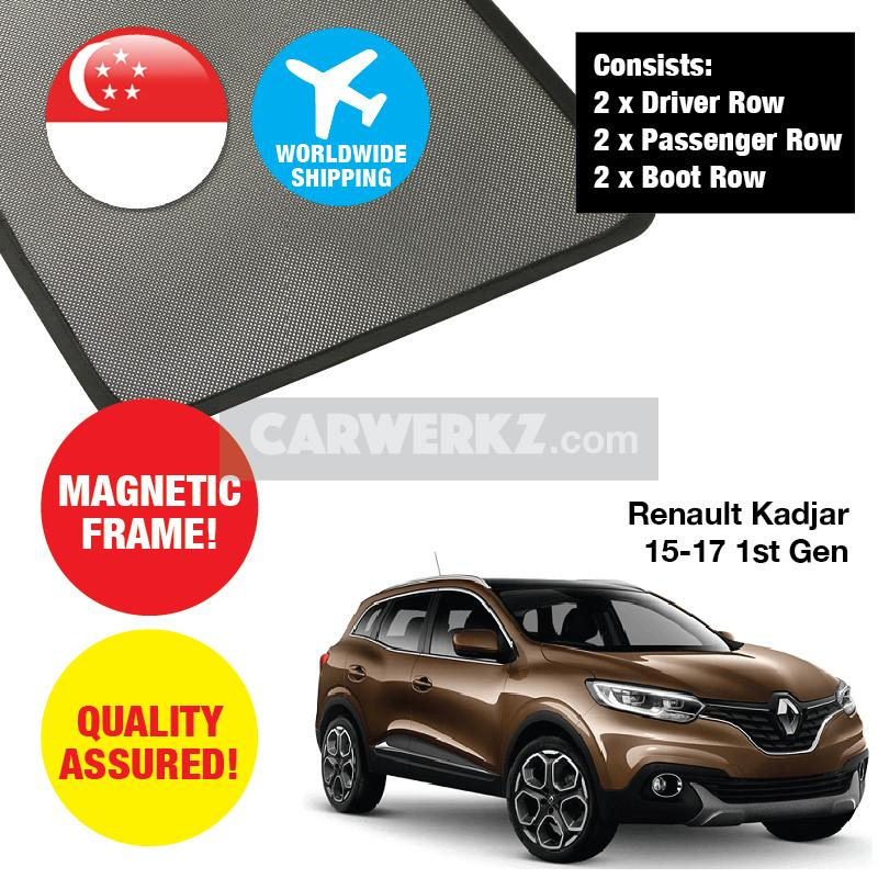 Renault Kadjar 2015-2020 1st Generation France Compact SUV Customised Car Window Magnetic Sunshades - CarWerkz