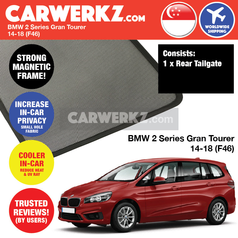 BMW 2 Series Gran Tourer 2014-2018 (F46) Customised Luxury German Compact MPV Window Rear Tailgate Sunshade 1 Piece - CarWerkz