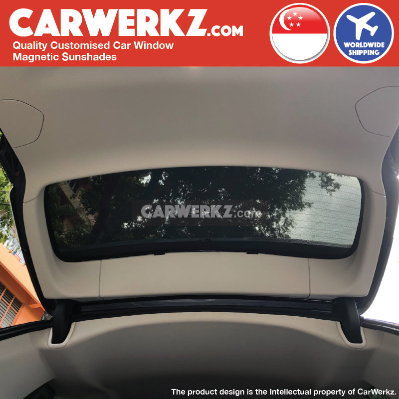BMW X3 2018-2019 3rd Generation G01 Customised Germany Luxury Mid size SUV Window Rear Tailgate Sunshade installed photos fitted picture - CarWerkz.com sg my au de se