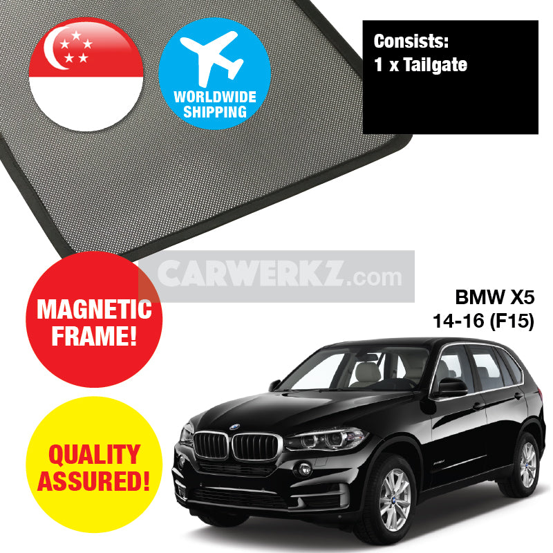 BMW X5 2014-2018 3rd Generation (F15) Customised Car Window Rear Tailgate Sunshade 1 Piece - CarWerkz