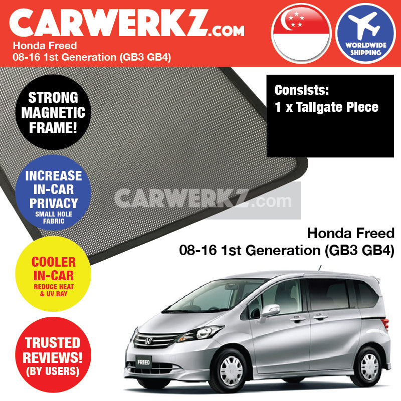 Honda Freed 2008-2016 1st Generation (GB3 GB4) Japan MPV Customised Car Window Magnetic Sunshades