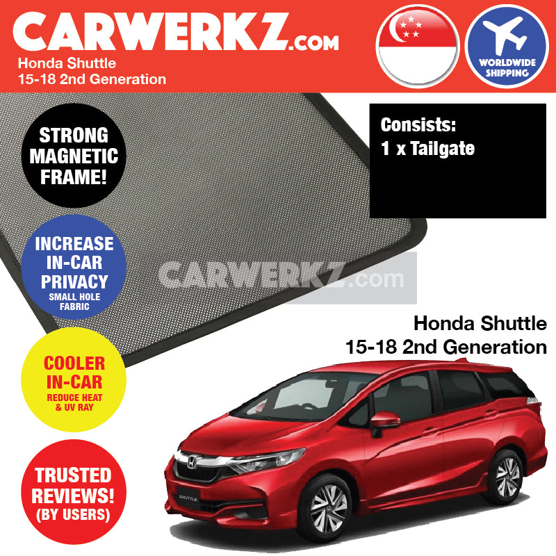 Honda Shuttle 2015-2018 2nd Generation Customised Car Window Rear Tailgate Sunshade 1 Piece - CarWerkz