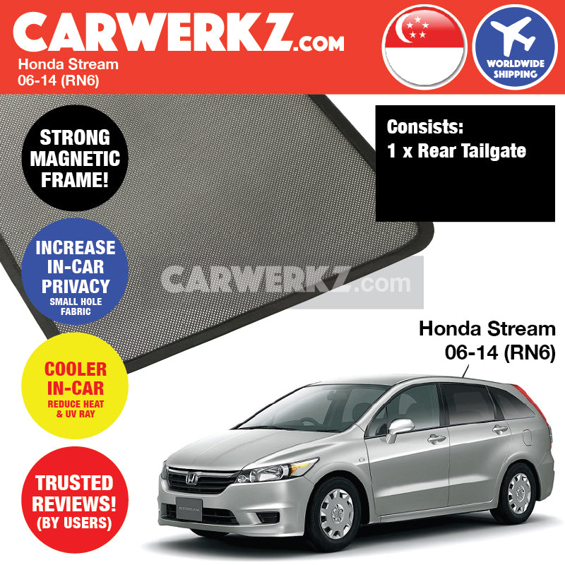 Honda Stream 2006-2014 2nd Generation (RN6 RN7 RN8 RN9) Japan MPV Customised Car Window Magnetic Sunshades - CarWerkz