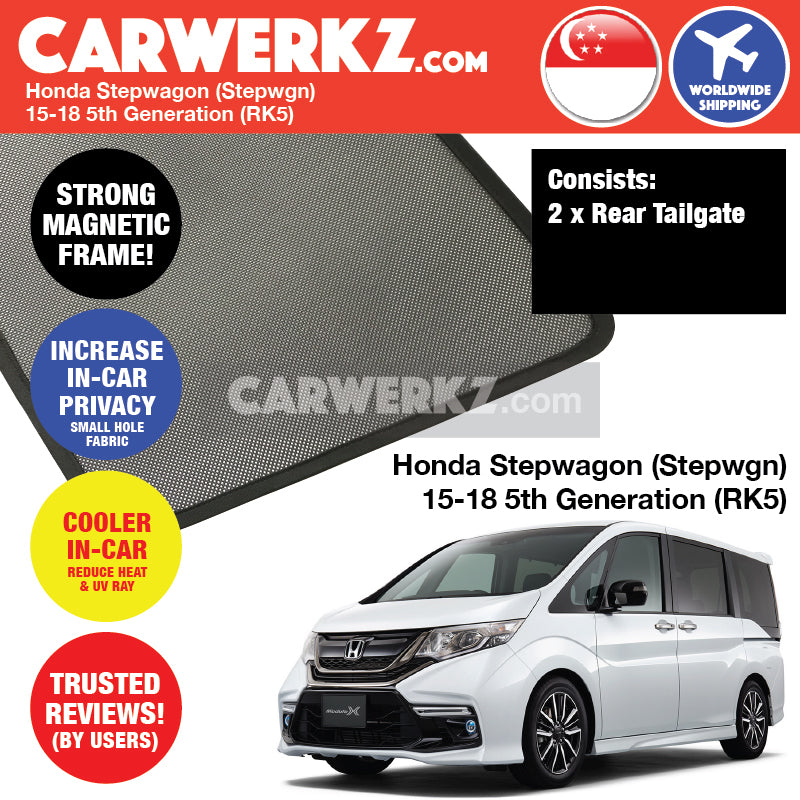Honda Stepwgn Stepwagon Spada 2015-2018 5th Generation (RP) Customised MPV Rear Tailgate Window Sunshade - CarWerkz