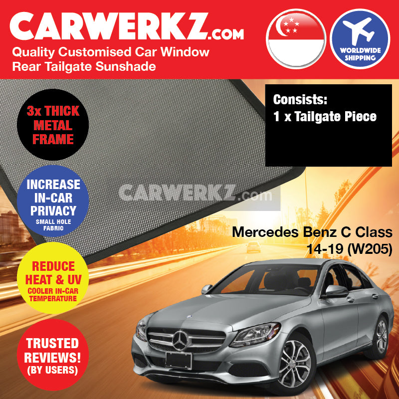 Mercedes Benz C Class 2014-2020 (W205) Germany Compact Executive Customised Car Window Magnetic Sunshades