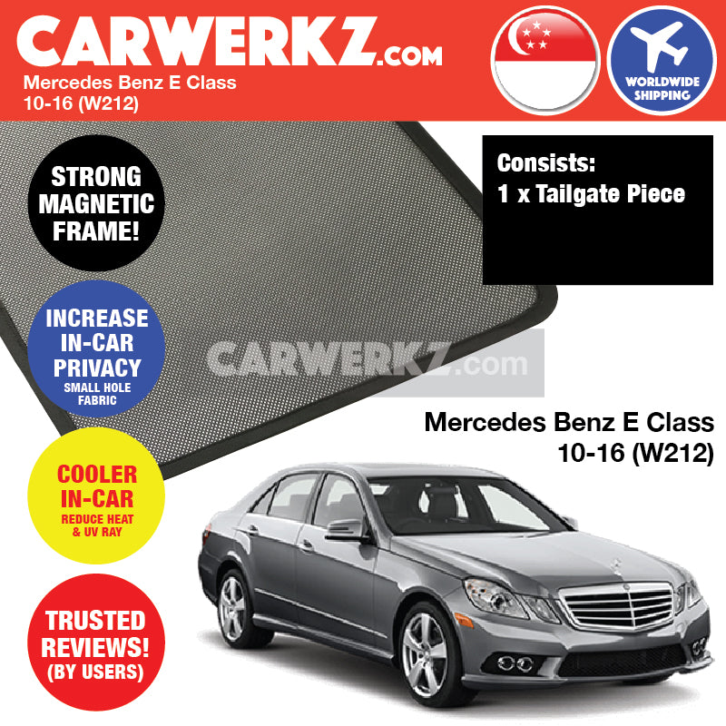 Mercedes Benz E Class 2009-2016 4th Generation (W212) Germany Executive Sedan Customised Car Window Magnetic Sunshades - CarWerkz