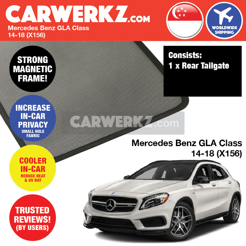 Mercedes Benz GLA Class 2014-2018 (X156) Customised Car Magnetic Sunshades - CarWerkz
