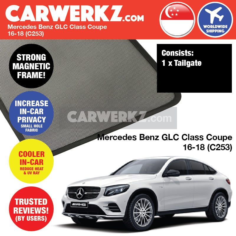 Mercedes Benz GLC Class Coupe 2016-2018 (C253) Customised Car Window Rear Tailgate Sunshade - CarWerkz