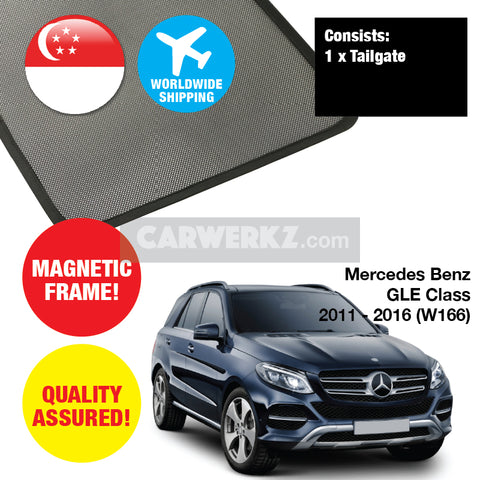 Mercedes Benz GLE Class 2011-2018 3rd Generation (W166) Rear Tailgate Sunshade 1 Piece